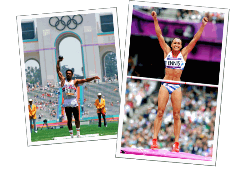 Daley Thompson and Jessica Ennis